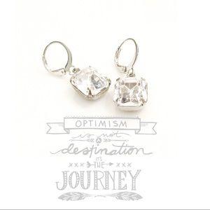Jewelry - Vintage Swarovski crystal octagon earrings